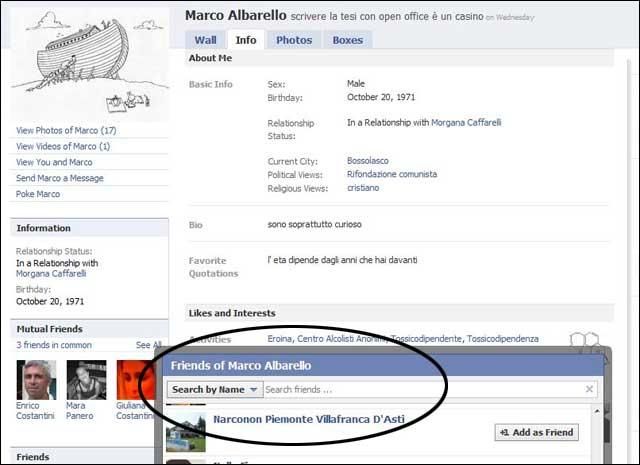 pagina facebook di alberto albarello