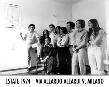 Il gruppo di via Aleardo Aleardi