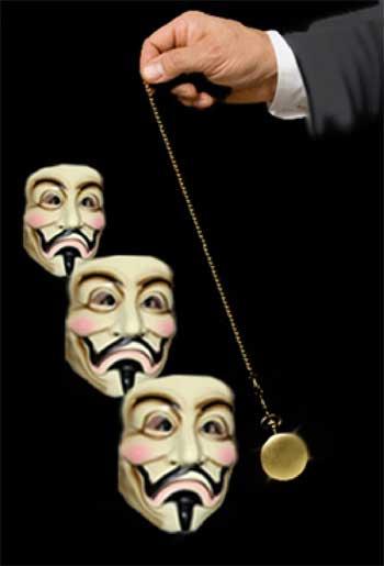 orologio che ipnotizza gli anonymous