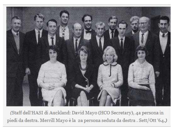 Auckland HASI Staff in 1964