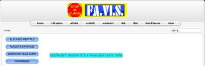 homepage del sito Favis