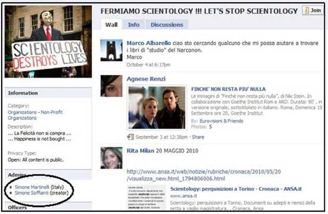 pagina fermiamo scientology
