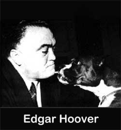 Edgar Hoover con il suo cane