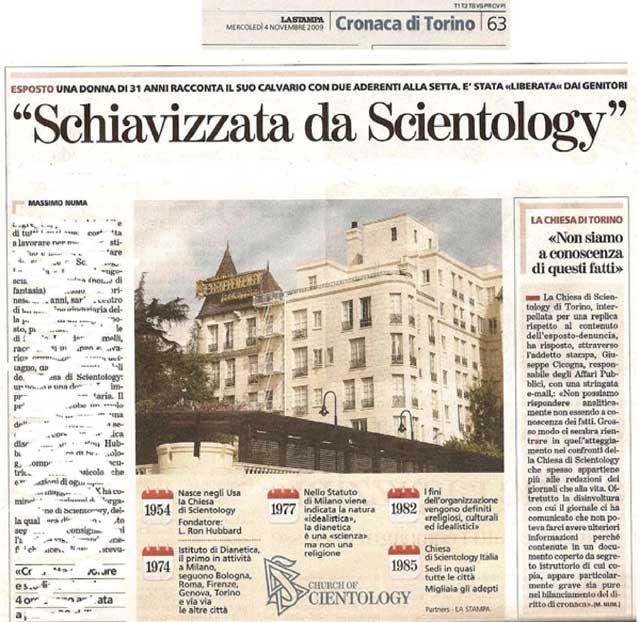 articolo de La Stampa