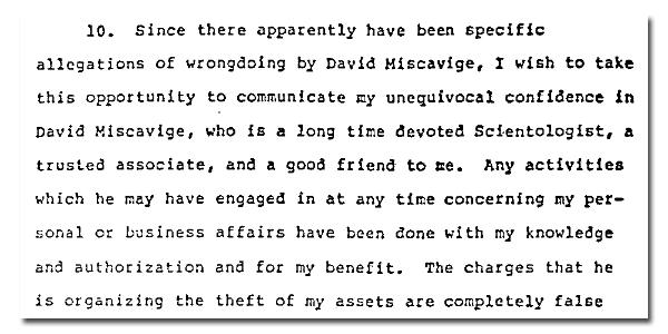 dichiarazione di Hubbard punto 10