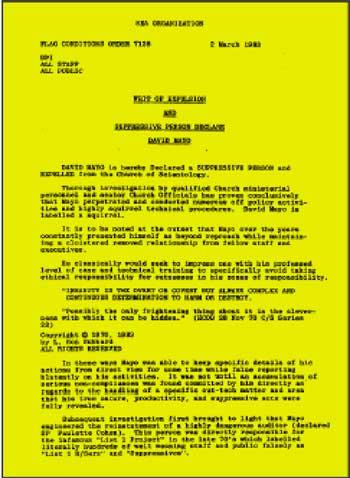 dichiarazione di mayo