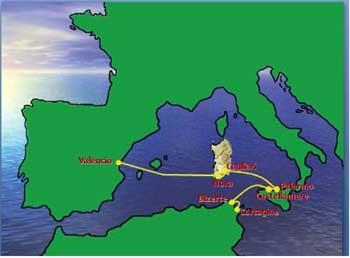 cartina geografica mediterraneo