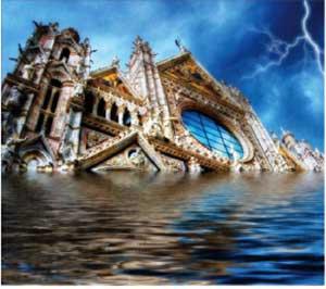 chiesa naufraga sprofonda nel mare