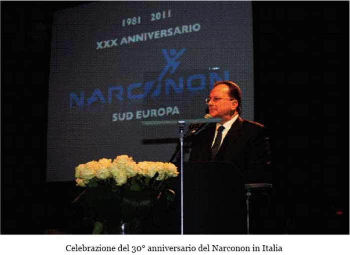 Ugo Ferrando sul palco al 30° anniversario