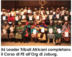 leader tribali all'org ideale Joburg