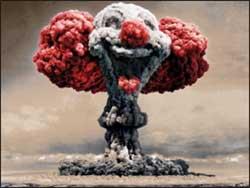 fungo nucleare a forma di pagliaccio