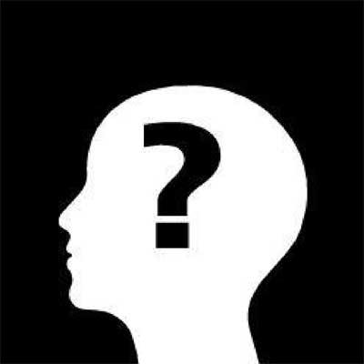 punto di domanda nella testa