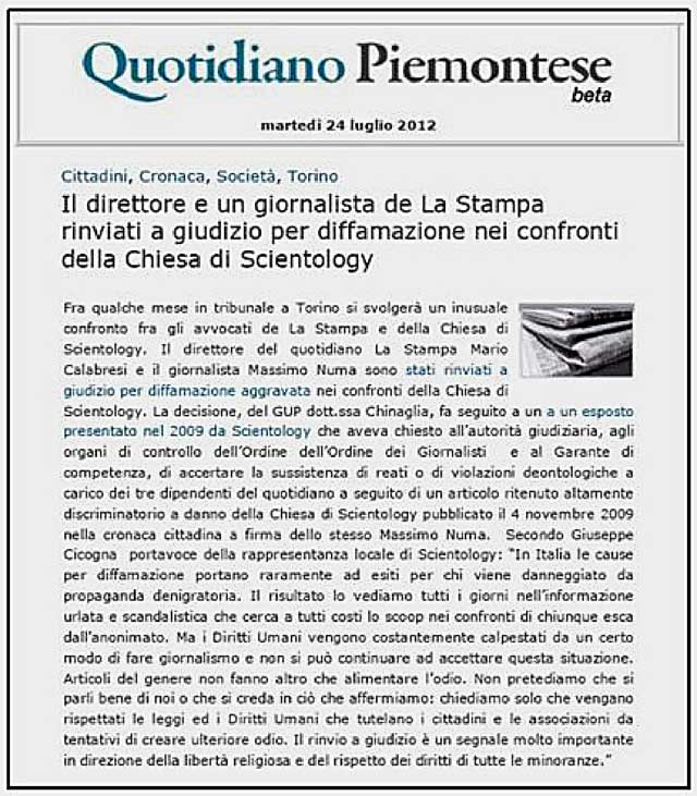 quotidiano piemontese