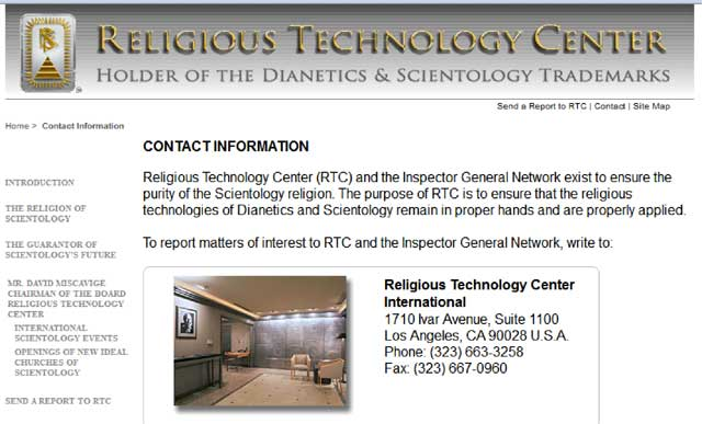 rtc contact page
