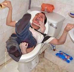 scivolone nella tazza del WC