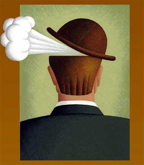 fumo sotto il cappello