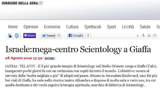 articolo su Corriere.it