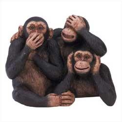 tre scimmie non vedo non sento non parlo
