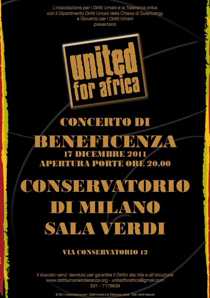 locandina United for Africa