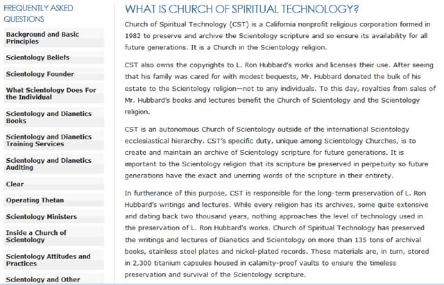 what is church of spiritual technology